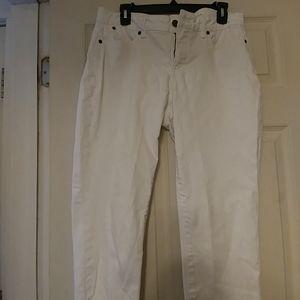 Womens Petite Talbots White Jeans